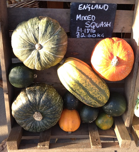 Pumpkins and squash at Leng's on Bold Bath Road.
