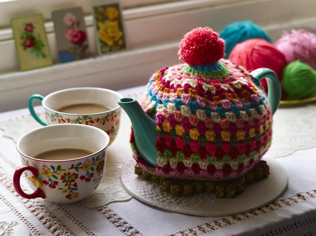 Rachelle made this cute tea cosy