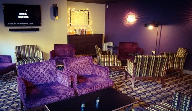 The lounge is a cool, relaxed place to chill, read the paper or watch the small screen.