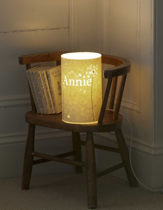 Personalised lamp by Hannah Nunn