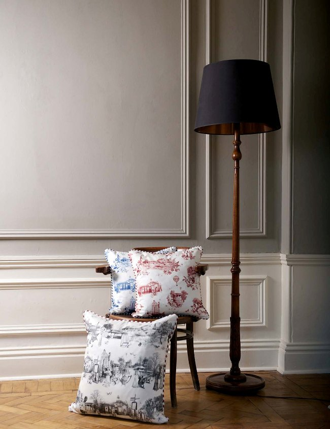 Harrogate Toile cushions