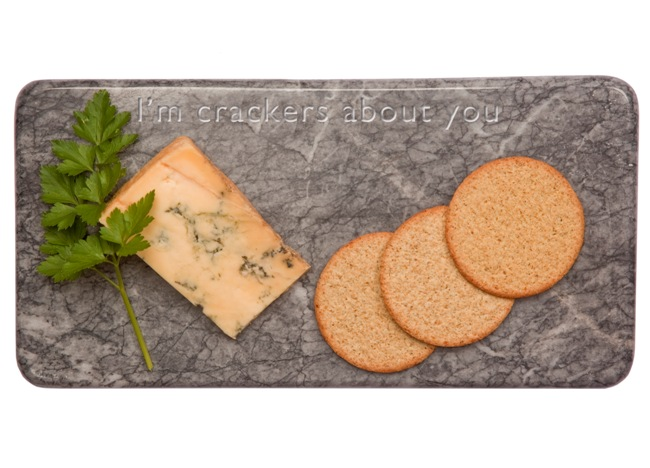I'm crackers about you marble board