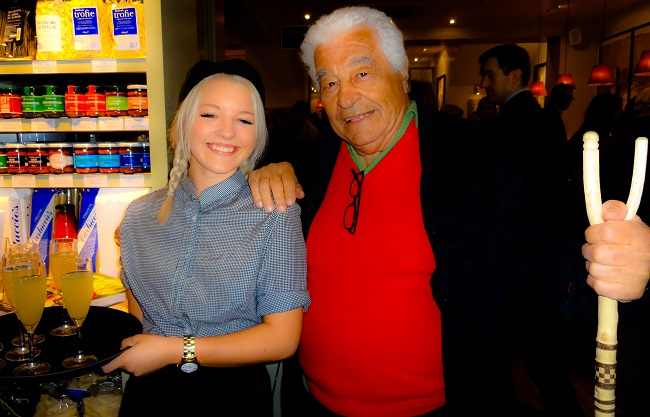 The man himself Antonio Carluccio at the Harrogate opening.
