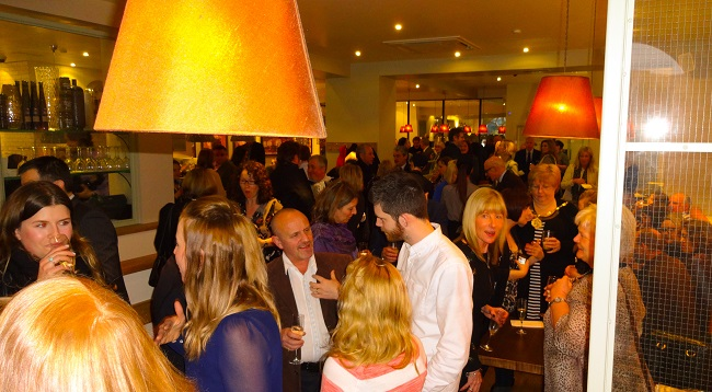 Guests at the Carluccio's Harrogate launch party.