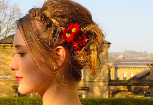 Hair by Katy Flanagan, modelled by Hannah Muirhead.