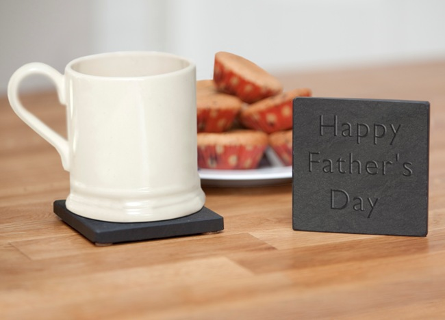 happy fathers day coaster