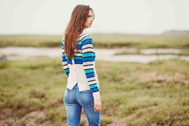 Ithika Lace Hole Striped Jumper, £135.