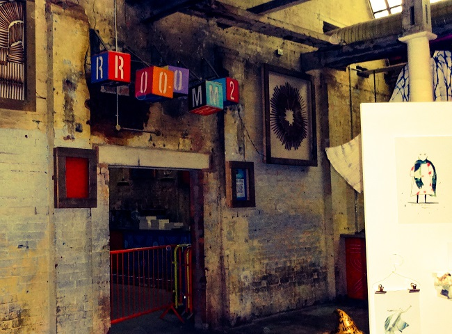 Inside Canal Mills, the venue used by the Leeds College of Art for its graduate fashion show.