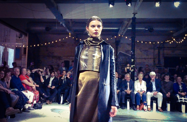 Design by Sonia Sohal at the Leeds College of Art Graduate Fashion Show,