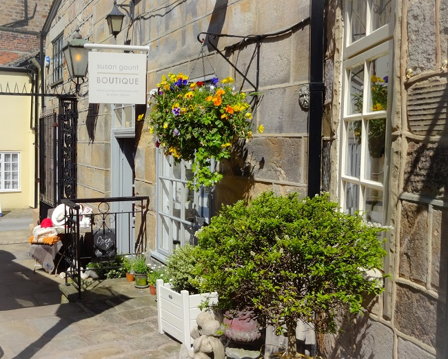 Susan Gaunt Boutique, tucked away in pretty Montpellier Mews.