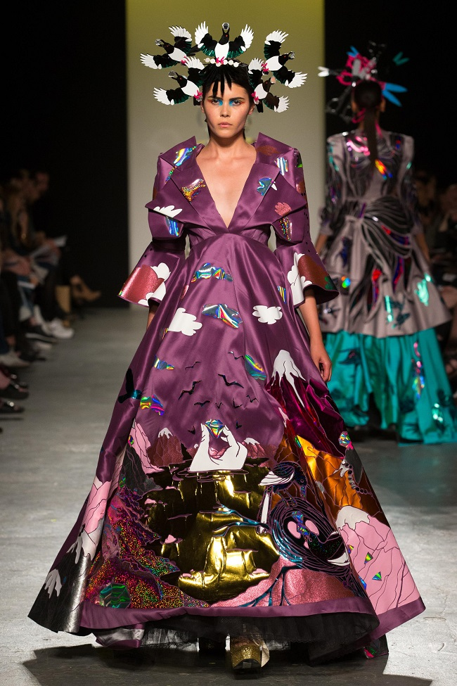From former Leeds College of Art student Mary Benson's final collection at the University of Westminster,