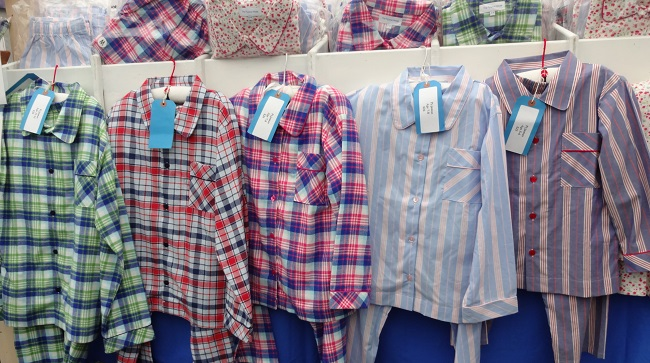 Beautiful brushed cotton pyjama sets by North Yorkshire based The Pyjama House.