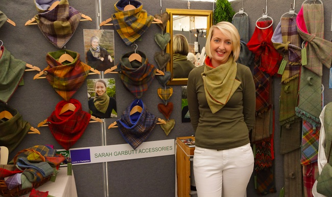 Northallerton-based Sarah Garbutt creates these very clever and super-stylish collars and scarves.