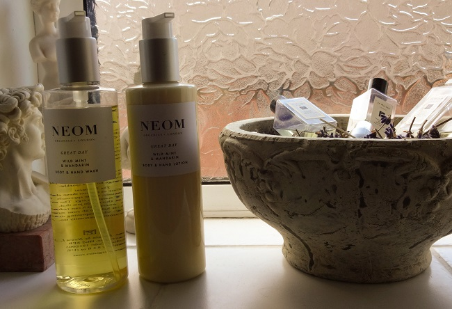 I love my Neom Organics products like this hand wash and hand lotion. Neom is Harrogate based.