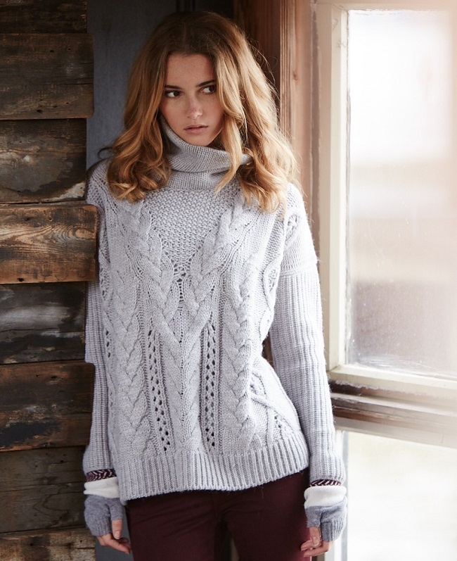 Gorgeous chunky cable-knit sweater from Needle,