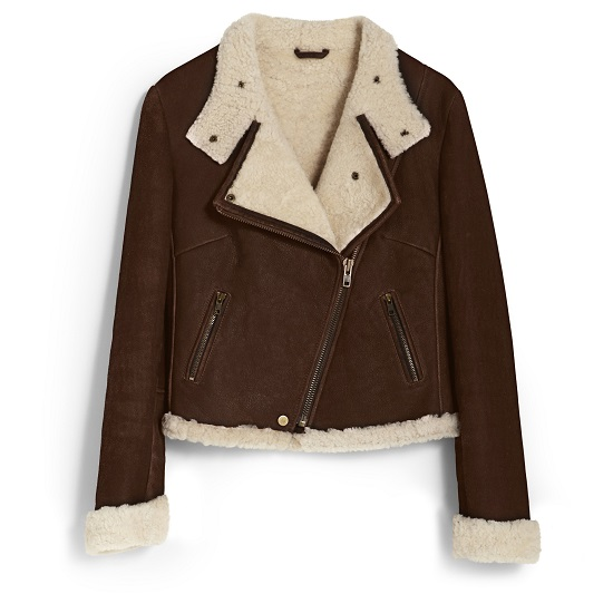 Shearling jacket,  £650, Hobbs London at Hobbs.