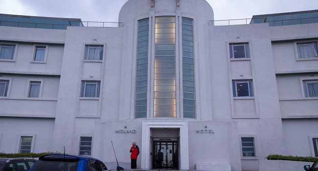 The curvalicious Midland Hotel in Morecambe.