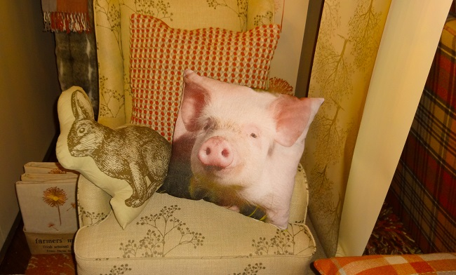 Pig cushion, £12,  from Next