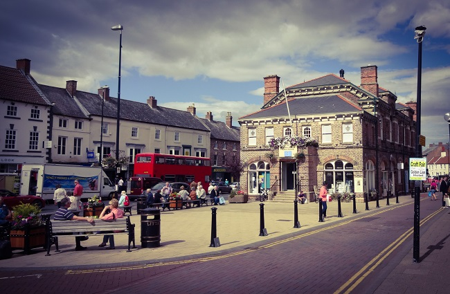 Ageless, timeless .. the town hall square at Northallerton