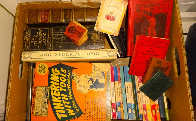 From Ella's Attic: There were loads of old books too - I wish II could have brought them all back, but they will be at the sale.