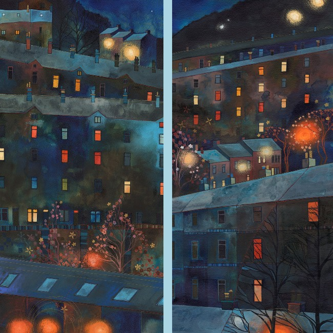 Christmas card by Kate Lycett