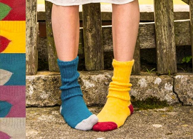 Handmade Exmoor wool socks £16 at www.cocoonu.com.