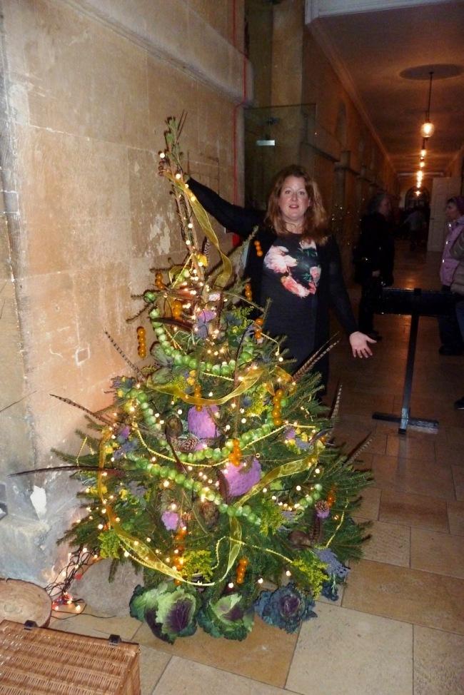 Sarah's tree decorated with veggies