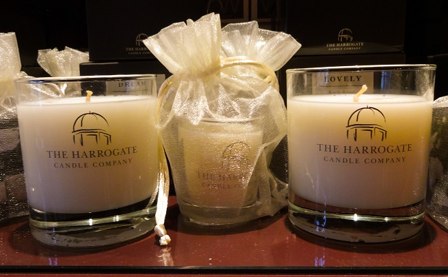 Home & Garden stocks many home candles, including these from The Harrogate Candle Company - www.harrogatecandlecompany.com - starting at around £10.
