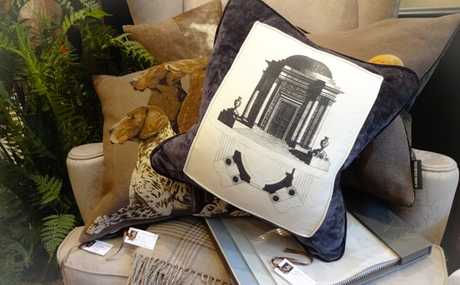The bespoke architectural cushion costs £70. Customers can bring in their own pictures to create bespoke cushions.