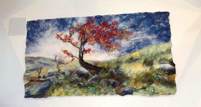 Fabulous felted picture by Andrea Hunter