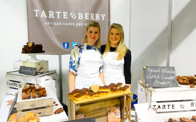 Jane and Lucy, aka Tarte and Berry at the BBC Good Food Show in Harrogate.