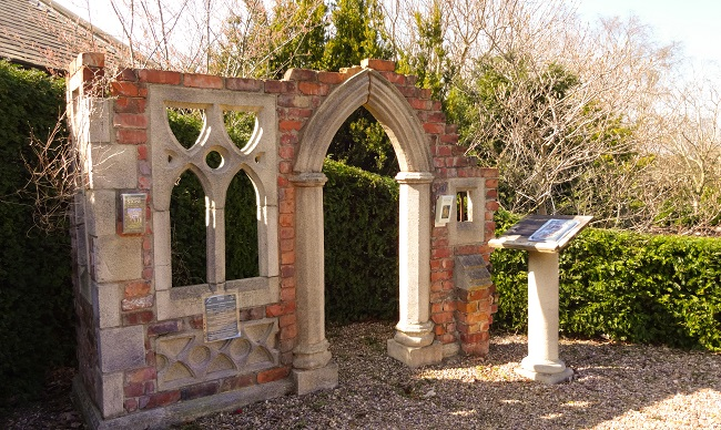 The mock Gothic folly (if a folly can be mock) found at Daleside Nurseries.