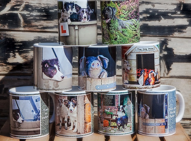 Mugs by Anthea Kitching, sheep farmer and accomplished photographer.