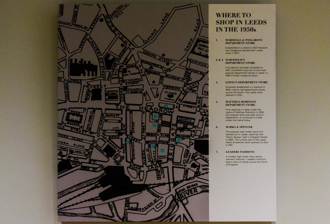 The map of the old department stores of Leeds.