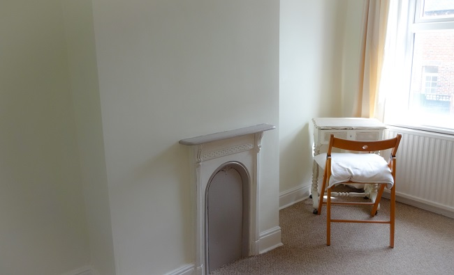 The Small Bedroom Has A Lovely Old Fireplace Which We Painted In White And Dove