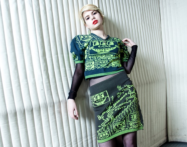 Keith Haring inspired knitwear, Vivienne Westwood. Witches collection 1983- 84. © BoneShaker Photography