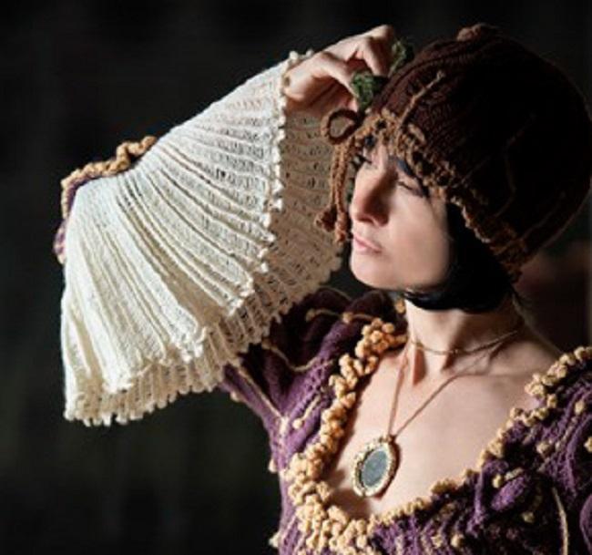 Liberty knit dress, Vivienne Westwood. On Liberty collection 1994- 95. © BoneShaker Photography.