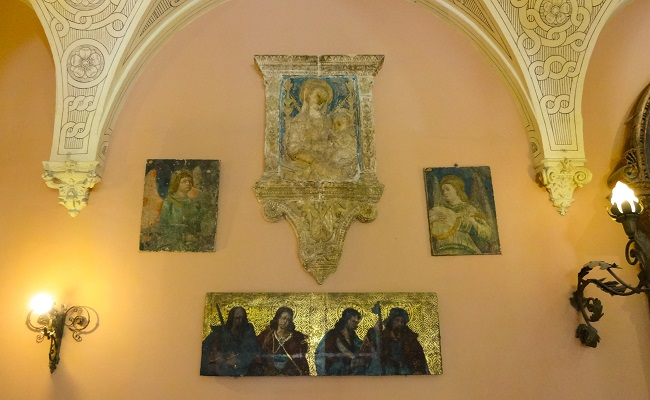 Religious art in the grand hall entrance.