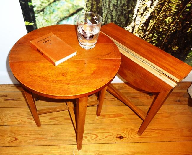 Fold-up teak tables - so useful