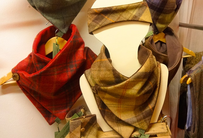 Perfect for Christmas, these tweed snoods are by Sarah Garbutt Accessories.