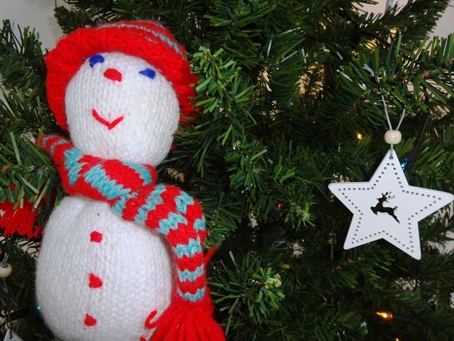 Grandma Annie's knitted snowman