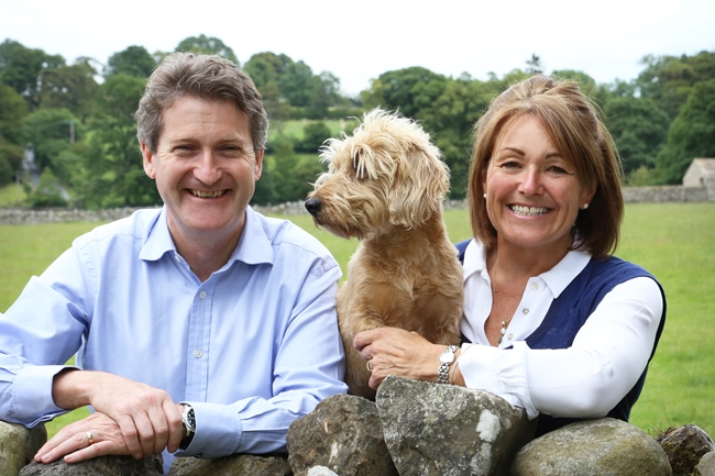 Belinda with husband Terry and their dog, Fox