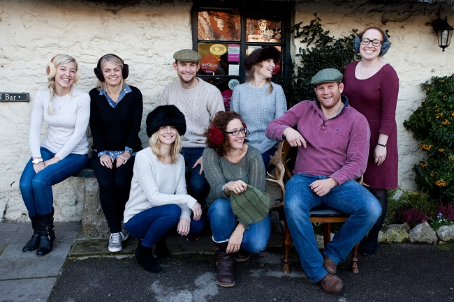 Some of the modelling team who came togather at the Star Inn for the shoot by Lisa Stonehouse.