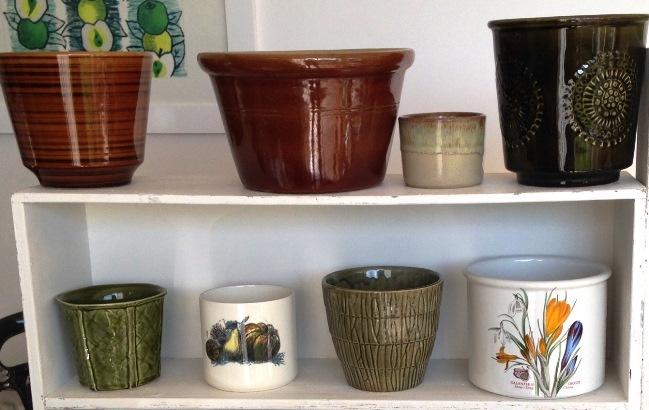 My vintage plant pots