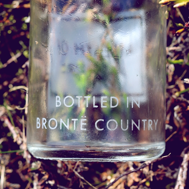 The back of Andy's etched glass bottle, pictured at the top of this post