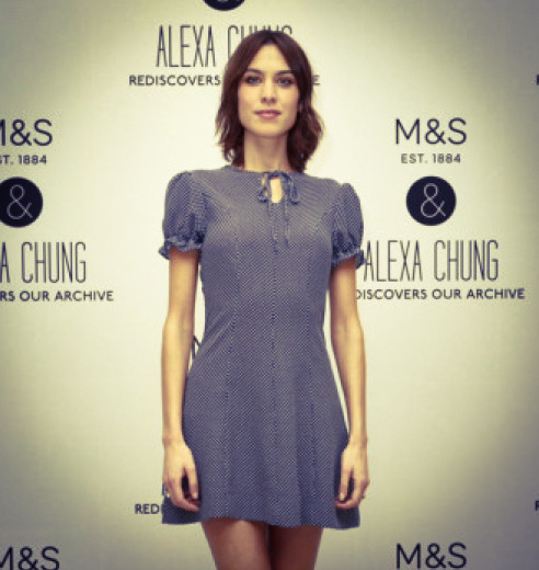 Alexa Chung at the launch.