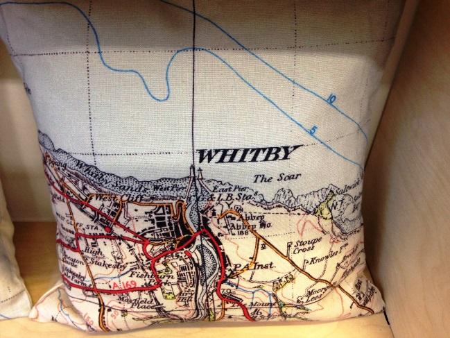 Map cushions by Jane Revitt
