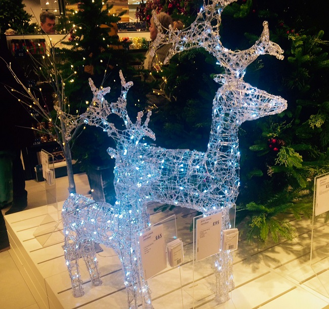 Christmas reindeers at John Lewis Leeds. It's just got to be done.