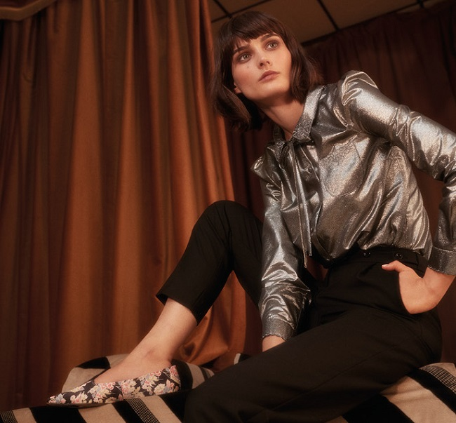 The Aire metallic shirt, £34.99, Archive by Alexa collection at M&S.