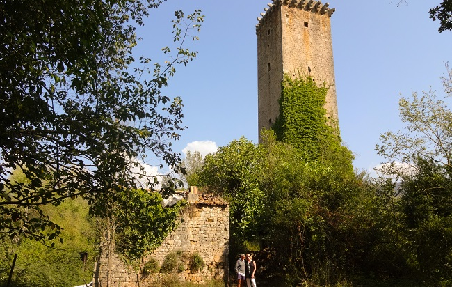 La Torre del Torro, not far from the Casale San Pietro luxury bed and breakfast, in the hills south east of Rome.